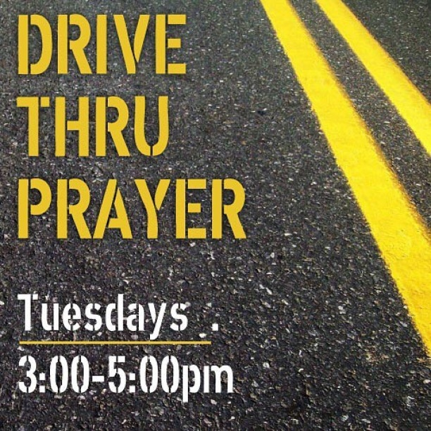 When in doubt pray it out!  Join us this afternoon for some prayer and encouragement.
