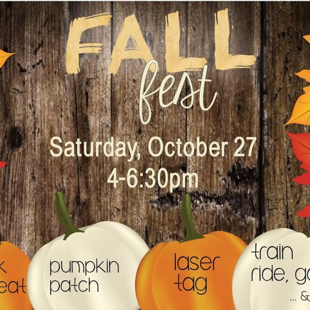 Our annual Fall Fest is just around the corner! Bring some friends and dress up if you'd like, and have fun!  This is also a super fun way to get involved! We are always looking for volunteers to help with anything from setting up, donating candy, or hosting a booth.