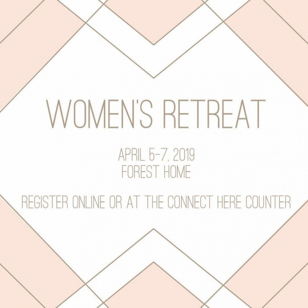 Register today for our Women's Retreat in the mountains! Time with God, time with friends, and time to relax! http://ow.ly/4LPq30nF5Vi