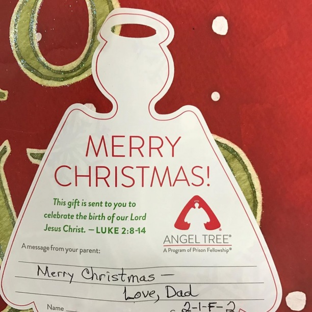 There will be 150 Angel Tree tags on a Christmas tree at church this Sunday. Each tag represents a child whose parent(s) are incarcerated. The gifts you purchase will officially come from the child's parent. Please prayerfully consider buying a gift that will make Christmas 2019 special for a child.